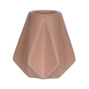 Ružová keramická váza Mica Gem, 9x9cm