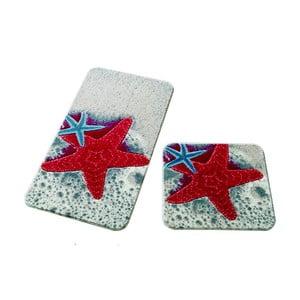Sada 2 kúpeľňových predložiek Confetti Bathmats Starfish