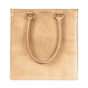 Pieskovohnedá kožená kabelka s dlhším uchom O My Bag