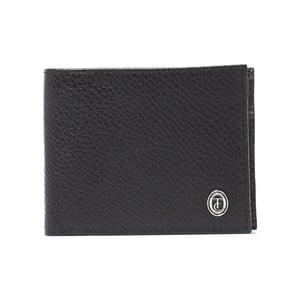 Čierna pánska kožená peňaženka Trussardi Marinero, 12,5 × 9,5 cm