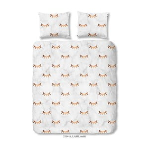 Obliečky na dvojlôžko z bavlneného saténu Muller Textiels Good Morning Lash, 200×200 cm