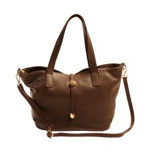 Hnedá kabelka z pravej kože Andrea Cardone Matteo