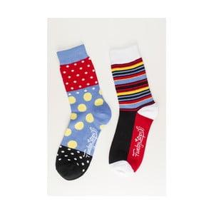Sada 2 párov unisex ponožiek Funky Steps Salsa, veľkosť 39/45