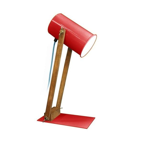Červená stolová lampa Baltic, 45 cm