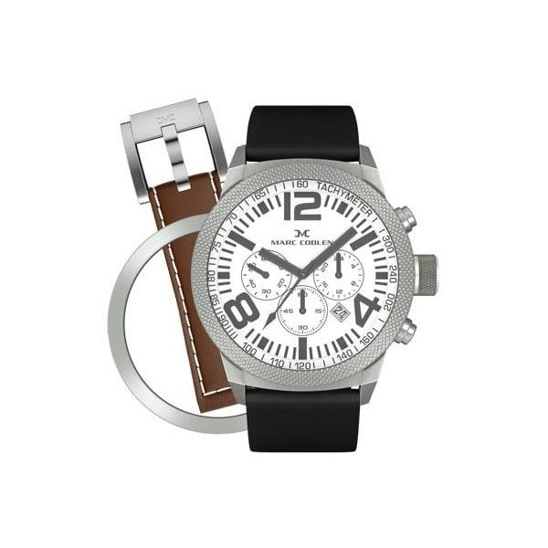 Unisex hodinky Marc Coblen s remienkom a ozdobou ciferníku naviac P16