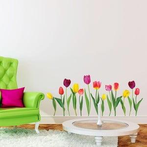 Sada samolepiek na stenu Ambiance Colorful Tulips