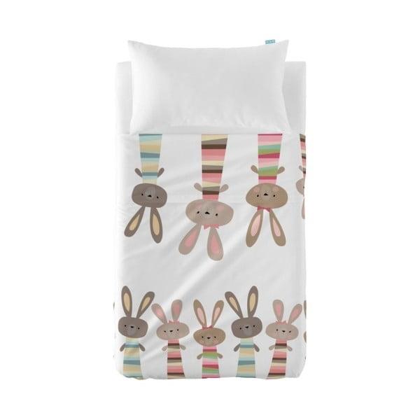 Set plachty a obliečky na vankúš Little W Rabbit, 120×180cm