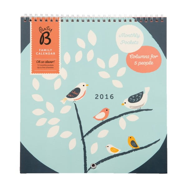 Rodinný kalendár Birds 2016