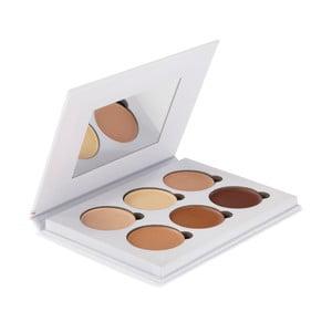 Profesionálna paleta 6 farieb pre rozjasnenie a kontúrovanie tváre Bellapierre White