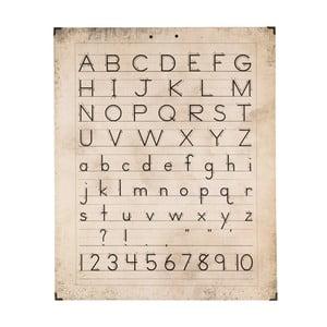 Nástenná drevená dekorácia Clayre & Eef Alphabet, 50 x 63 cm