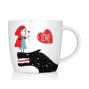 Porcelánový hrnček We Love Home Little Red Love, 300 ml