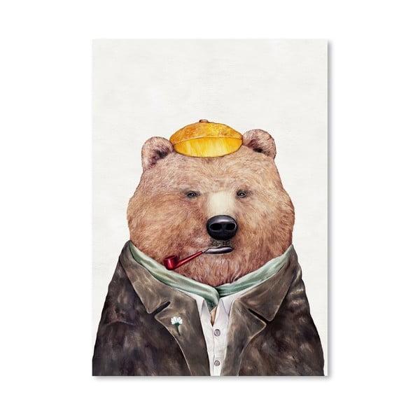 Plagát Brown Bear, 30x42 cm