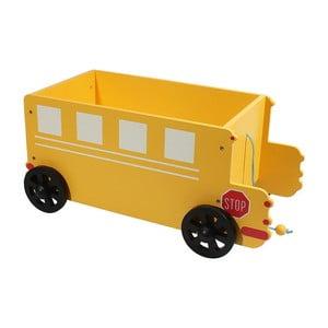 Detský úložný box Yellow Car