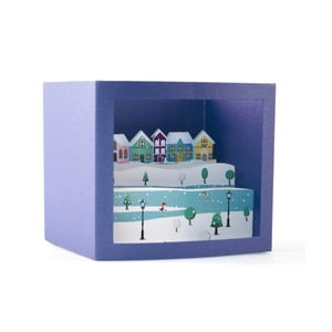 3D pohľadnica W-Lamp Snow Town