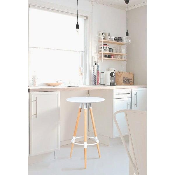 Barová stolička Molde White, 105 cm