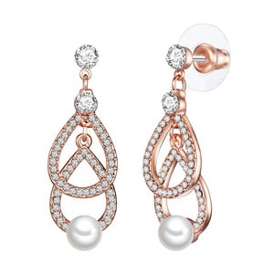 Náušnice s bielou perlou Perldesse Oiu, ⌀6 mm