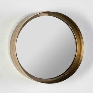 Okrúhle nástenné zrkadlo v zlatej farbe Thai Natura Wathap, ⌀28cm