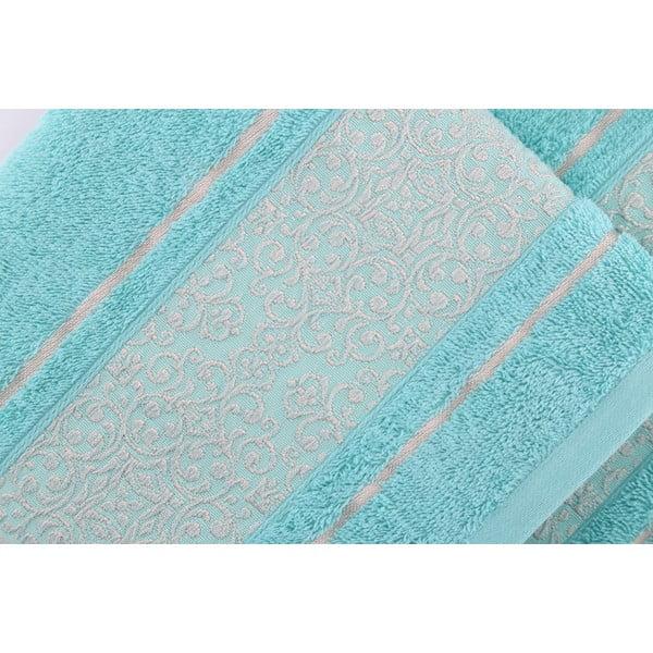 Sada 2 modro-zelených uterákov Fance, 50x90cm
