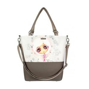 Hnedo-béžová kabelka Dara bags Lele No.552