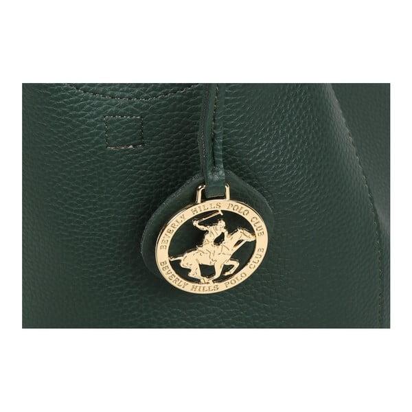 Zelená kabelka z eko kože Beverly Hills Polo Club Rita