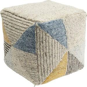 Vlnený puf Kare Design Triangle Stripes