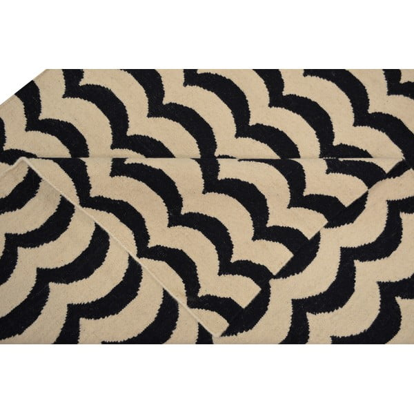 Ručne tkaný vlnený koberec Kilim Latika, 150x240 cm