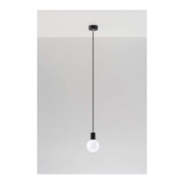 Čierne stropné svetlo Nice Lamps Bombilla