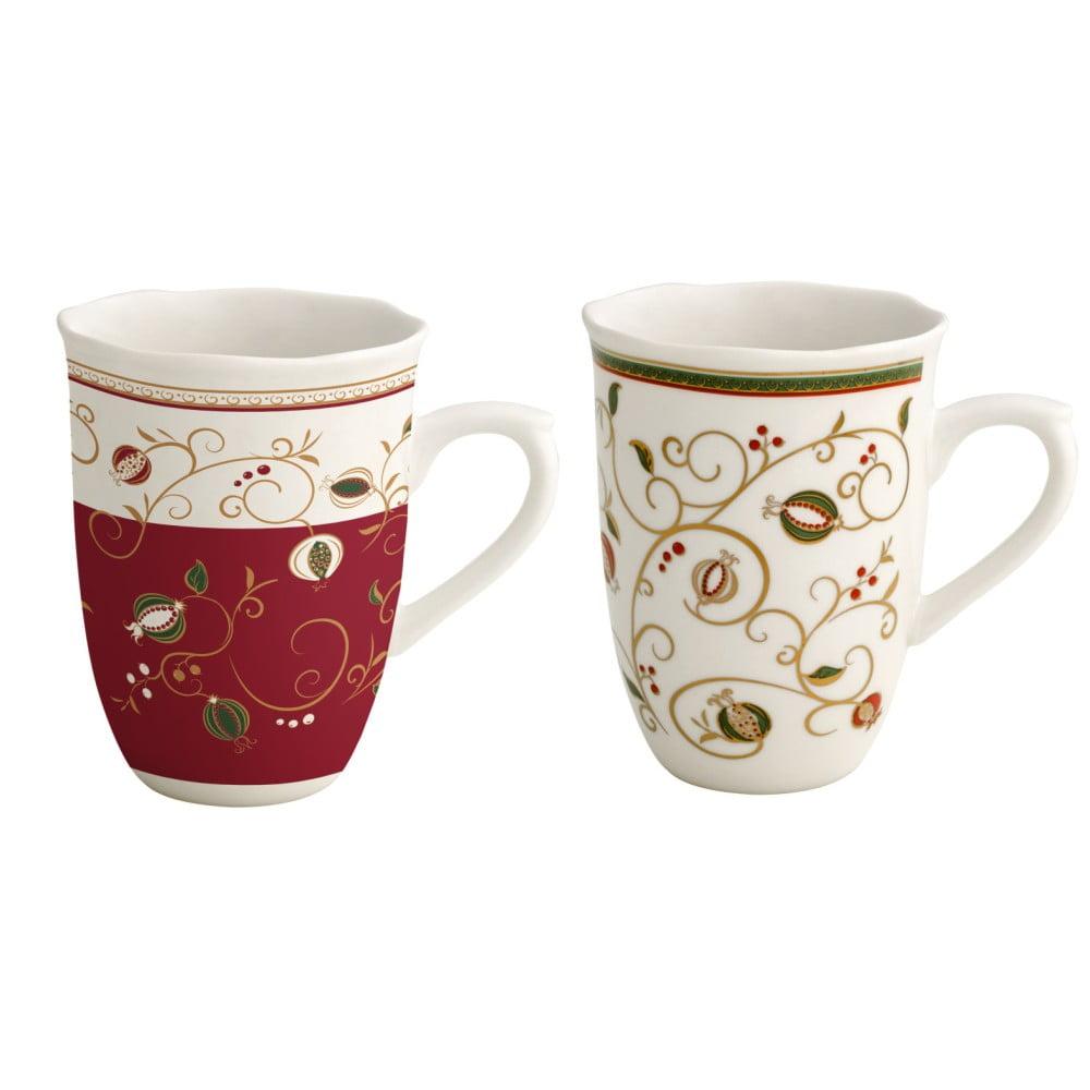 Sada 2 hrnčekov s vianočným motívom Brandani Tempo di Festa