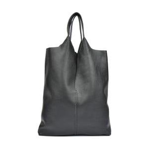 Čierna kožená kabelka Isabella Rhea Barbara