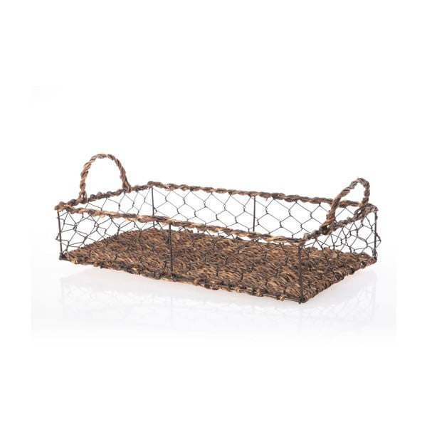 Prútený podnos Wicker Rectangle, 39 cm