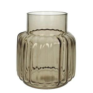 Hnedá sklenená váza HF Living, 20 cm