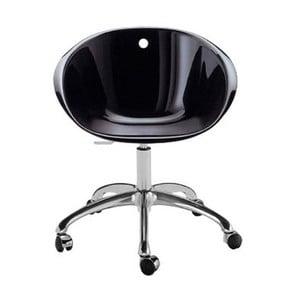Čierna stolička na kolieskach Pedrali Gliss