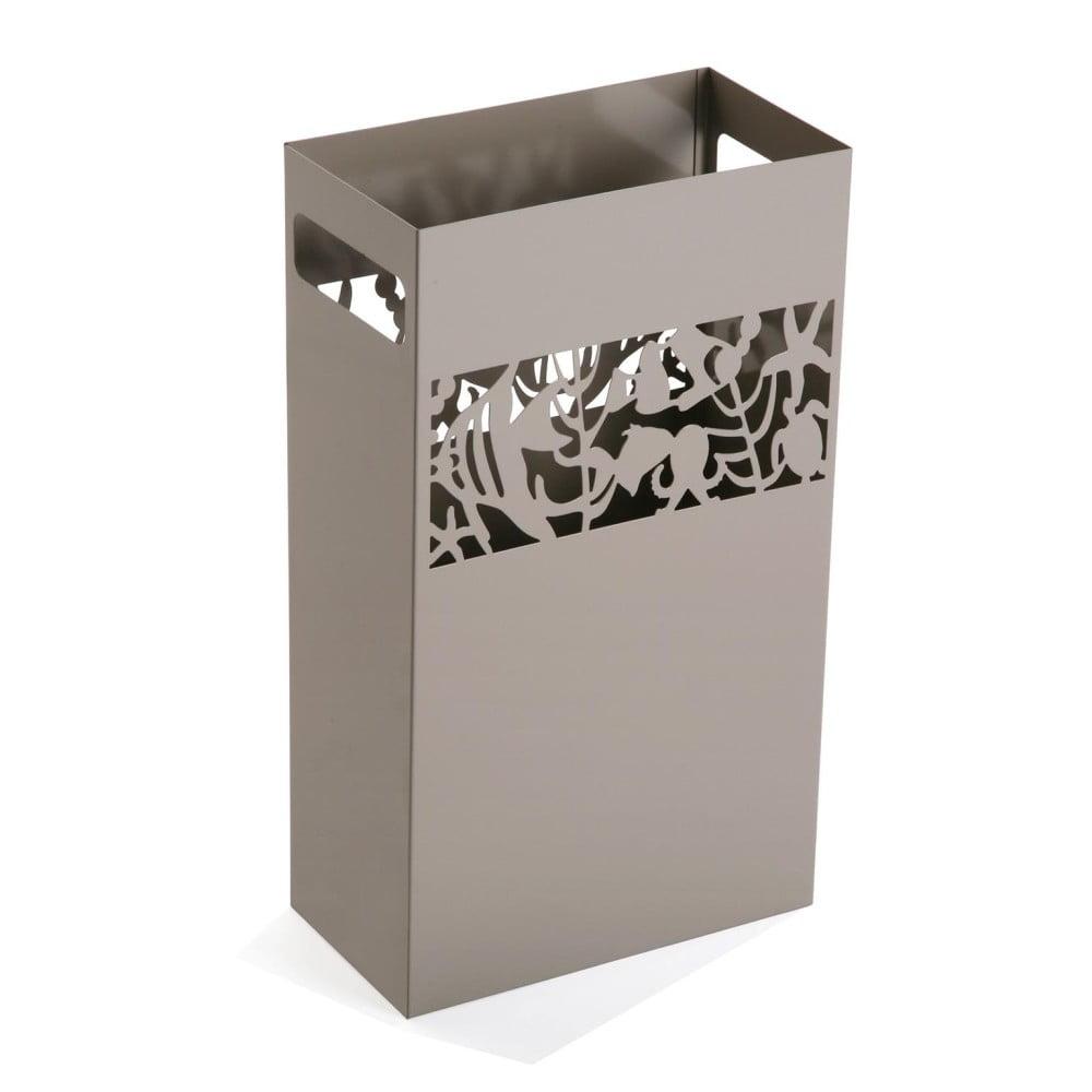 Sivý kovový stojan na dáždniky Versa Acuario, výška 49 cm