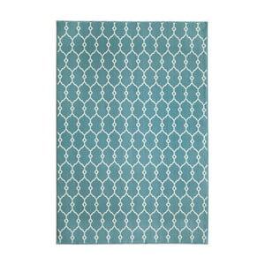 Modrý koberec Nourison Baja Cuzco, 290×201cm