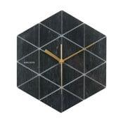 Čierne nástenné hodiny Karlsson Hexagon