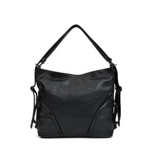 Čierna kožená kabelka Isabella Rhea Giuseppe