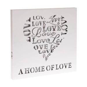 Svietiaca dekorácia Home Of Love, 40x40 cm