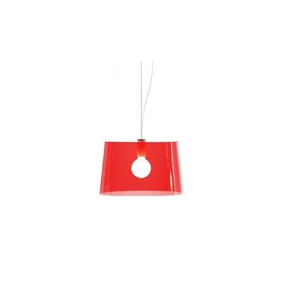 Závesné svietidlo Pedrali L001S/B, červené transparentné