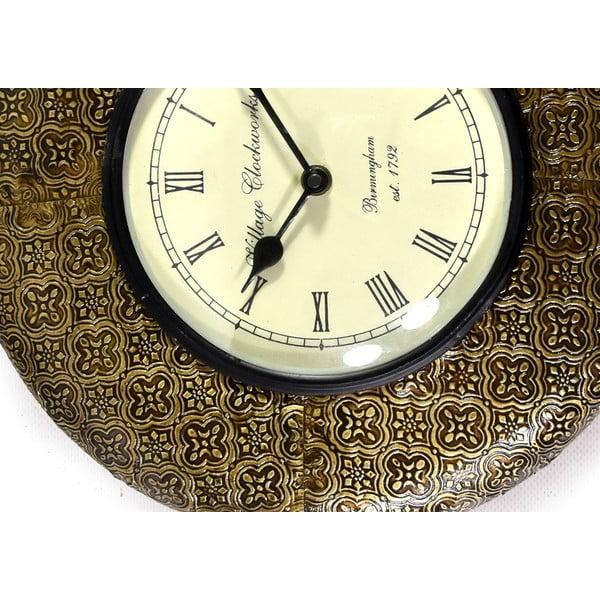 Nástenné hodiny z tepaného kovu Sikkim, 32 cm