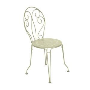 Zelenkavá kovová stolička Fermob Montmartre
