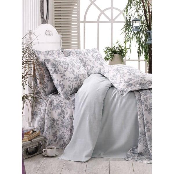 Prikrývka s plachtou Grey Floral, 160x235 cm