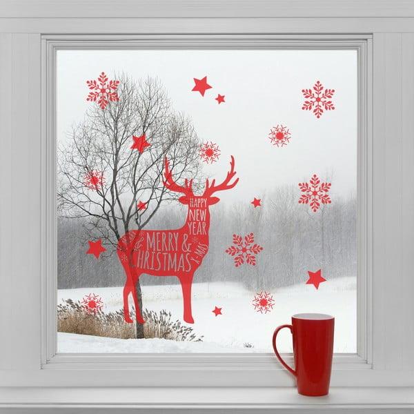 Elektrostatické vianočné samolepky Vianočný sob