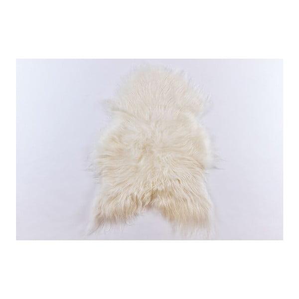 Ovčia kožušina s dlhým chlpom White, 100x60 cm