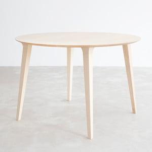 Stôl z prírodného jaseňa Stua Lau, 90 cm