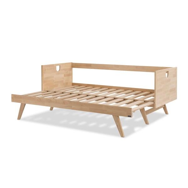 Ručne vyrobená konštrukcia rozkladacej pohovky z masívneho brezového dreva Kiteen Notte, 190 × 75 cm