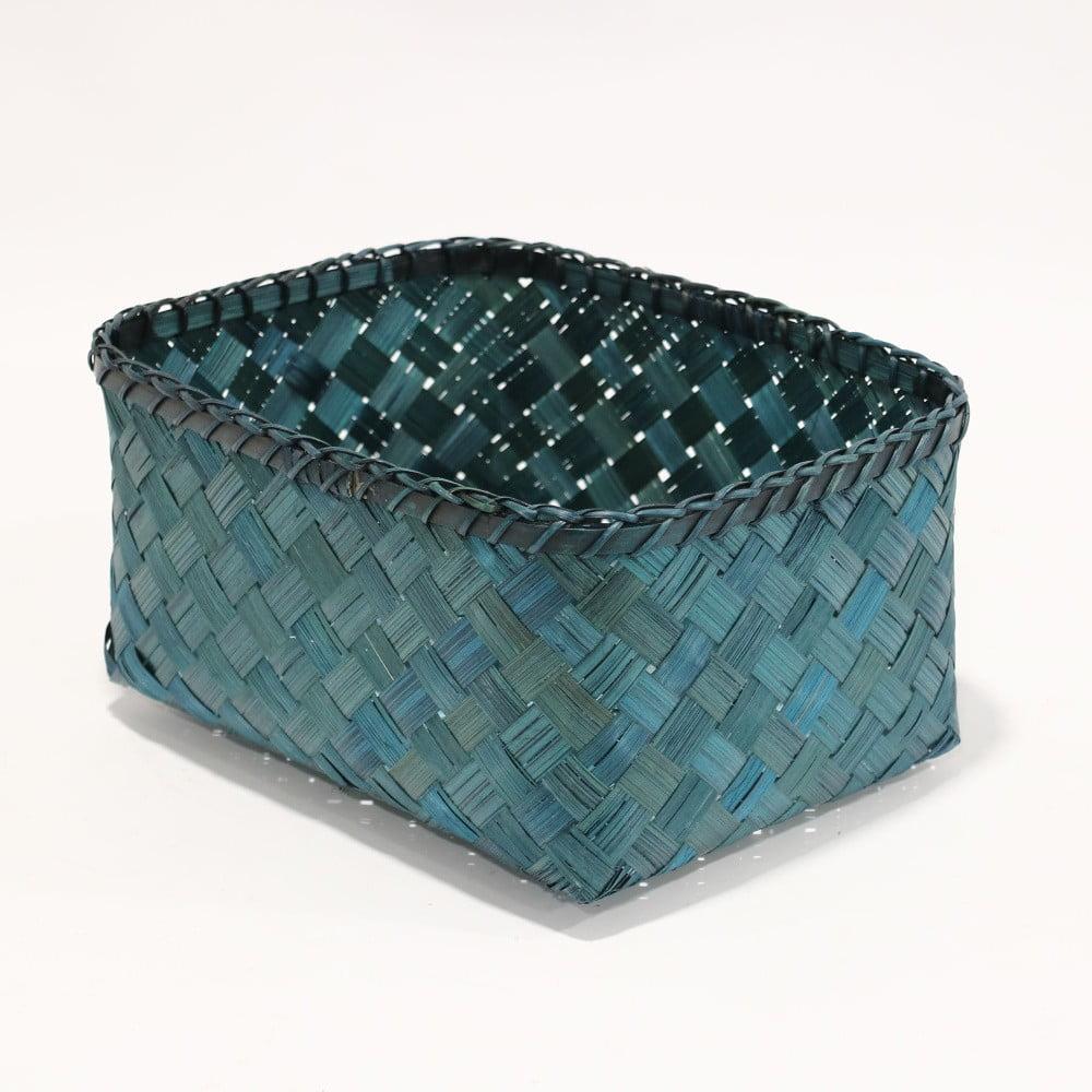 Modrý úložný košík z bambusu Compactor
