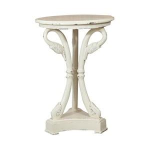 Drevený biely odkladací stolík Biscottini Régis