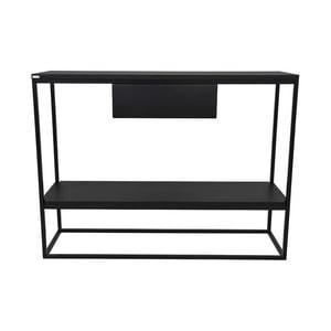 Čierny konzolový stolík Take Me HOME Lubin, 100×30cm