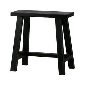 Čierna drevená stolička WOOOD Mara