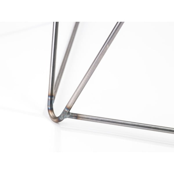 Sivá noha ku stolu Master & Master Diamond Narrow, 70x55cm